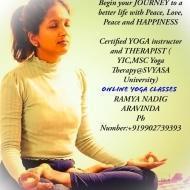 Ramya N. Yoga trainer in Bangalore